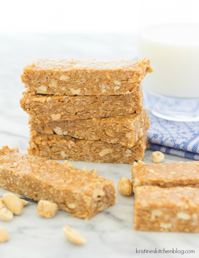 Nutty Peanut Butter Granola Bars No Bake