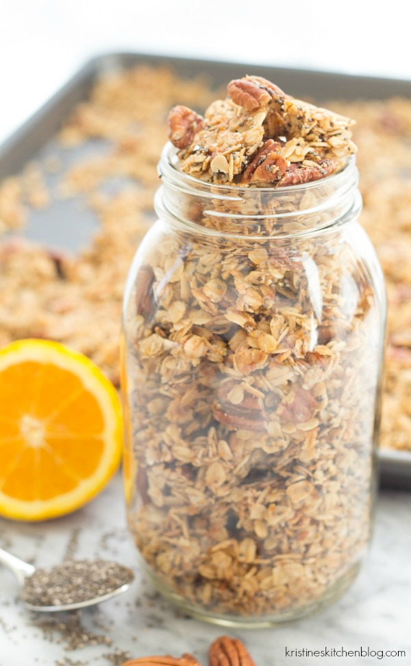 You'll love the hint of orange in this Orange Chia Seed Granola!