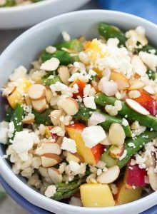 barley salad recipe in a bowl