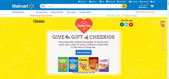 Cheerios™ Give a Box Promotion