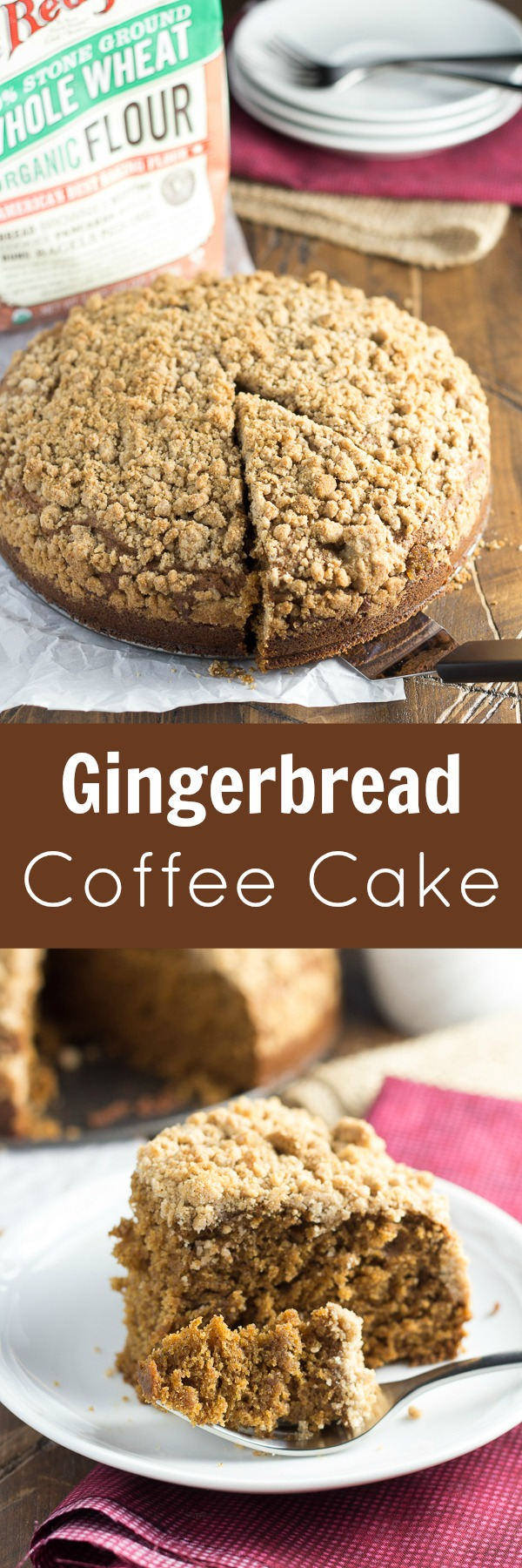 Gingerbread Coffee Cake, the perfect holiday breakfast!