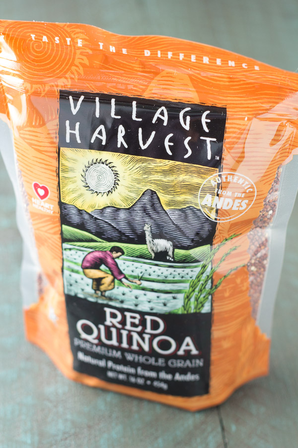 Village Harvets Red Quinoa in Quinoa and Roasted Broccoli Lunch Bowls
