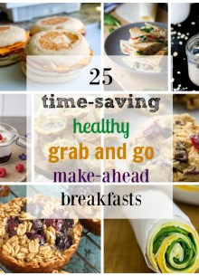 25 Healthy, Grab and Go, Make-Ahead Breakfast Recipes! Save time in the morning with these easy recipes!