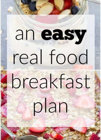 How we stopped our packaged cereal habit: An EASY and healthy real food breakfast plan! | www.kristineskitchenblog.com