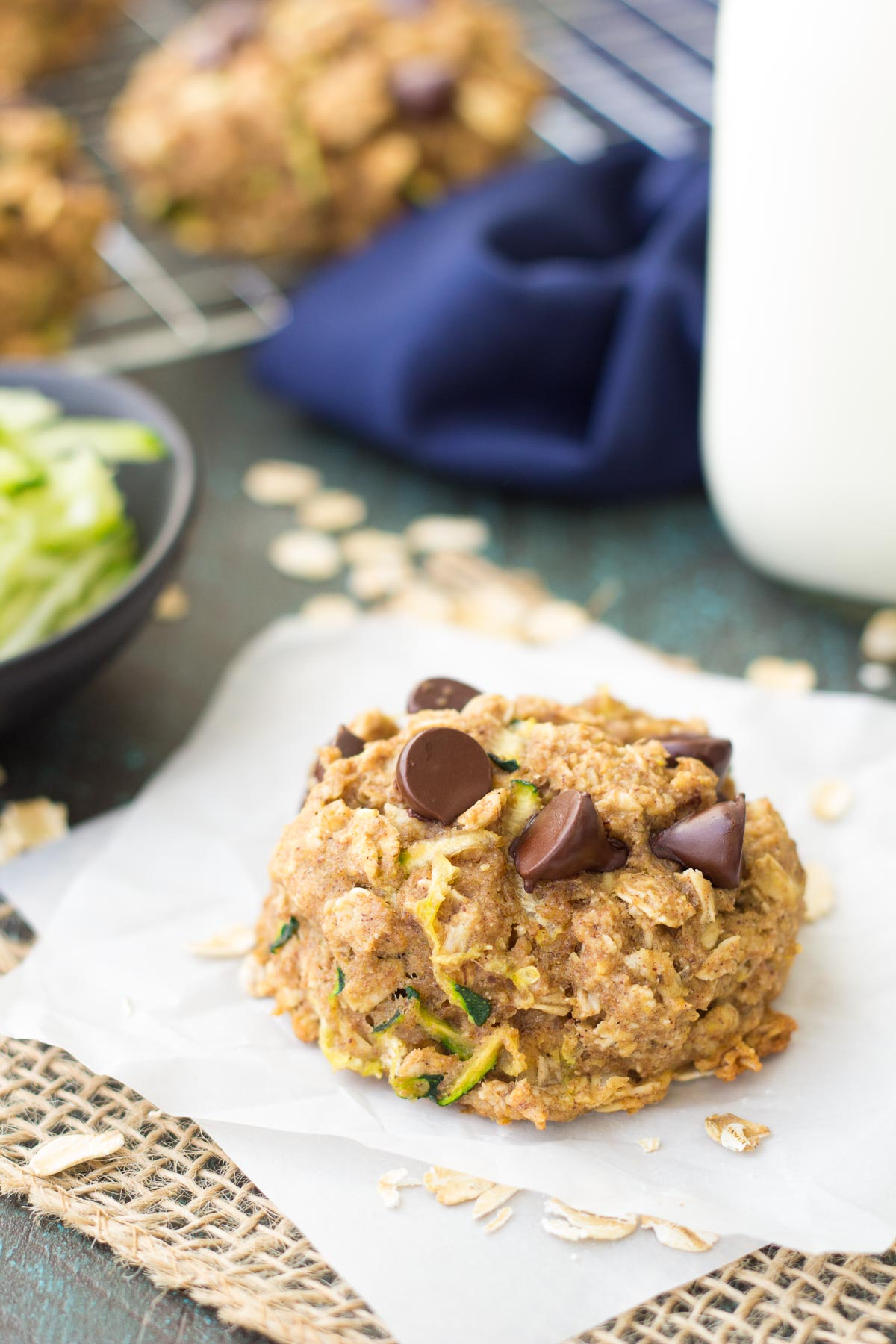 Zucchini Cookies with chocolate chips