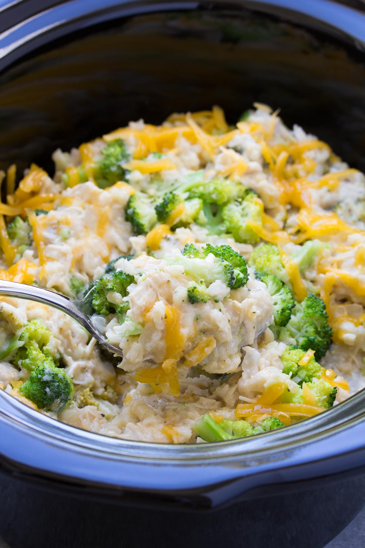 Slow Cooker Chicken, Broccoli And Rice Casserole-3000