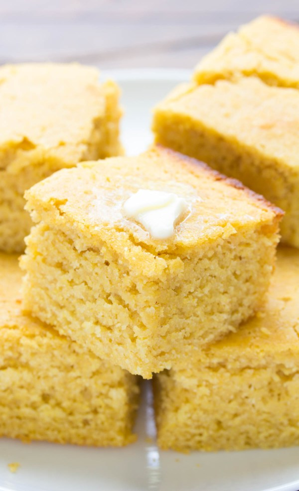 Sweet Corn Bread! Made with Honey and Whole grain and SO EASY to make! | www.kristineskitchenblog.com