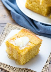 Sweet Honey Cornbread! Whole grain and SO EASY to make! | www.kristineskitchenblog.com