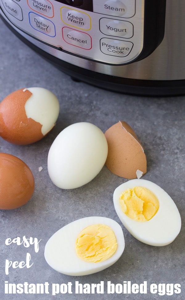 Easy peel hard boiled eggs are an easy meal prep recipe! Make these Instant Pot hard boiled or soft boiled eggs this week!