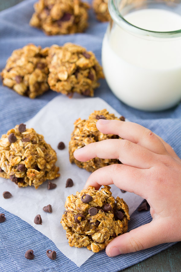 This Oatmeal Breakfast Cookie Recipe is my kids' favorite breakfast cookie recipe. The cookies are egg-free, with dairy-free and vegan options. Stir together the dough in one bowl for this easy recipe. This is a great recipe for kids to help with in the kitchen!