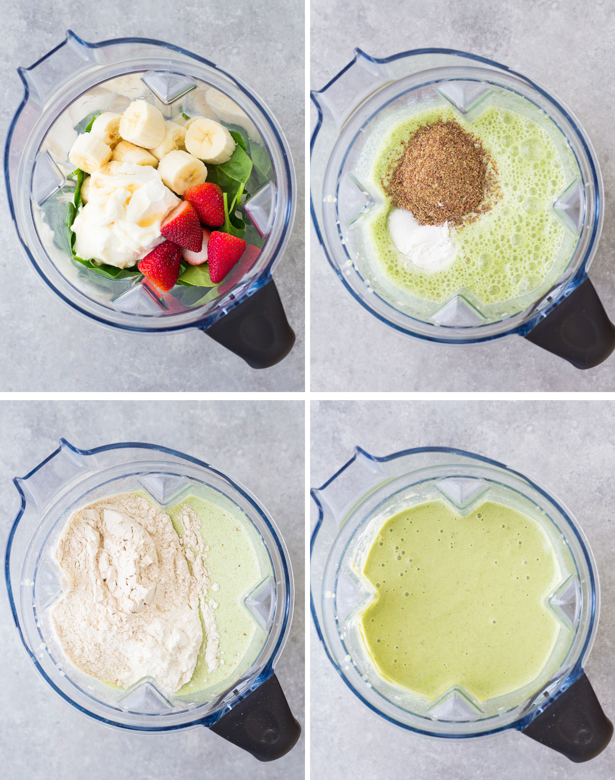 These Blender Green Smoothie Waffles are a fun way to get kids to eat their greens! The waffle batter is mixed up in a blender so they are really easy to make. The waffles turn out crisp on the outside with soft insides. The waffles have a hint of green smoothie flavor, with a little coconut and banana mixed in!