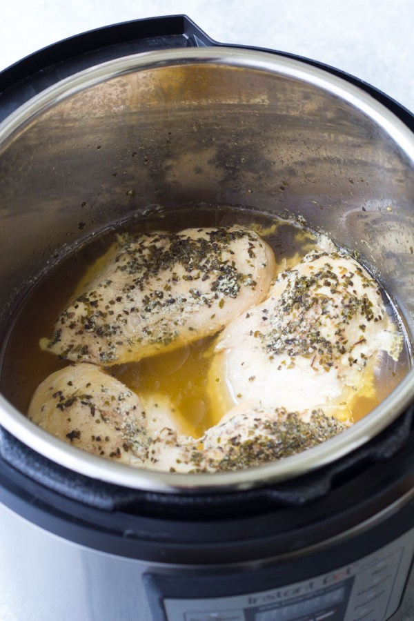 Cooked chicken to make Instant Pot shredded chicken.