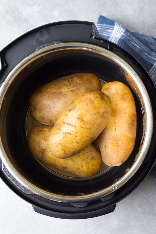 How to cook Instant Pot baked potatoes in your pressure cooker.