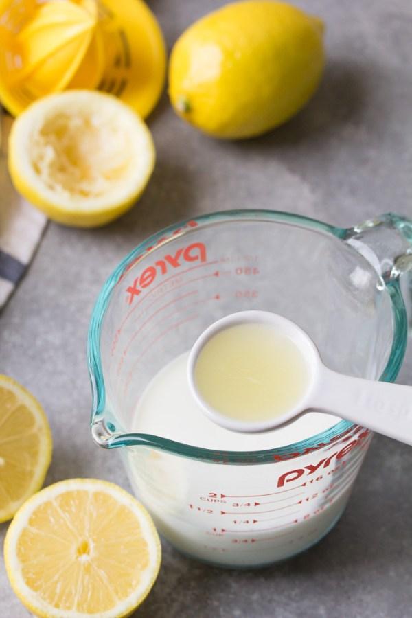 added lemon juice to make homemade buttermilk