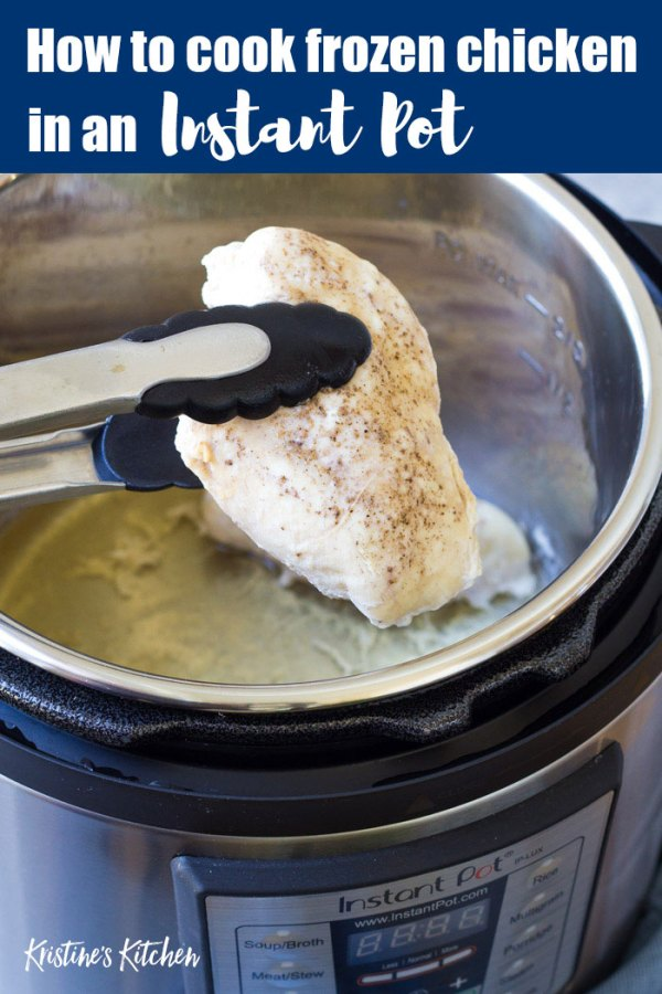Chicken cooked from frozen in an Instant Pot