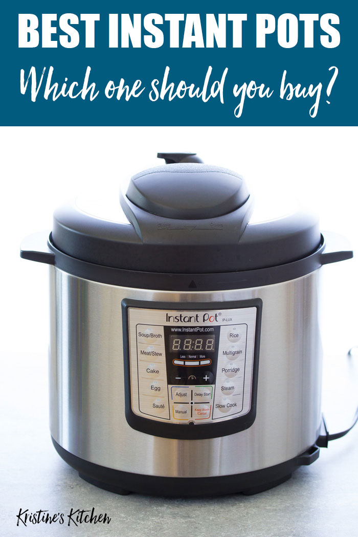Which Instant Pot to buy: comparison of the best Instant Pot models and sizes.