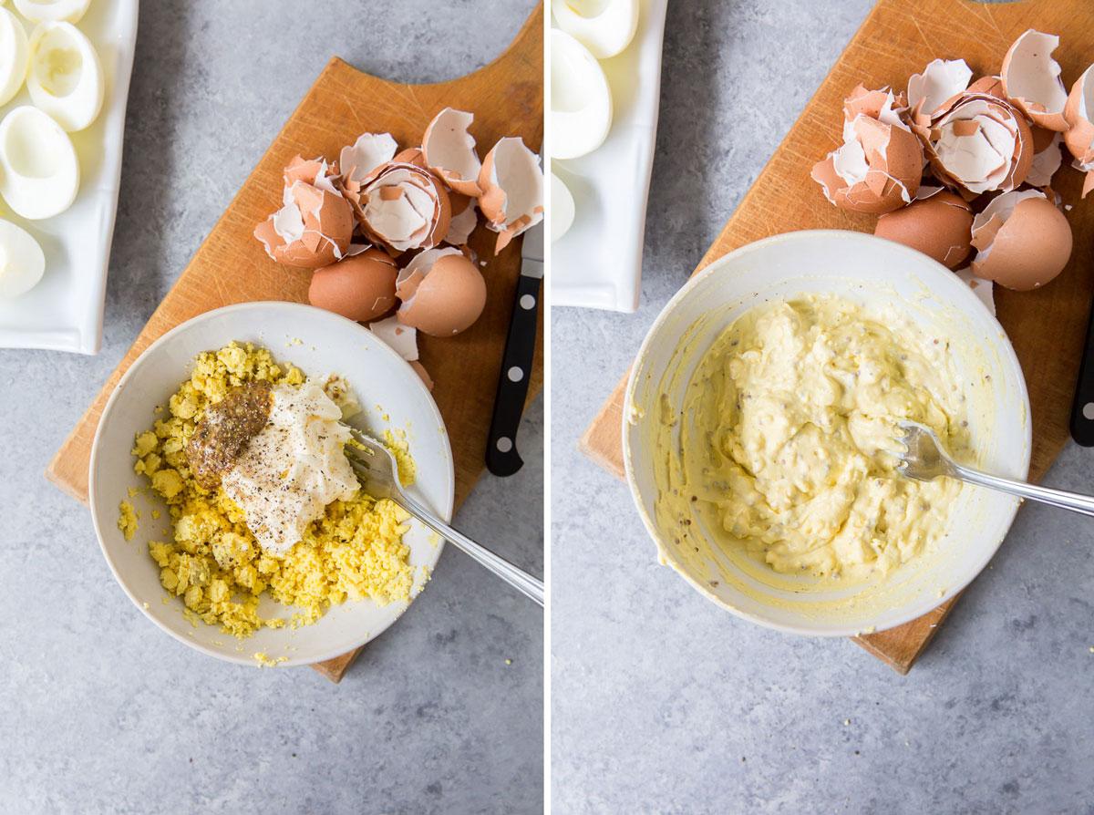 making the yolk filling