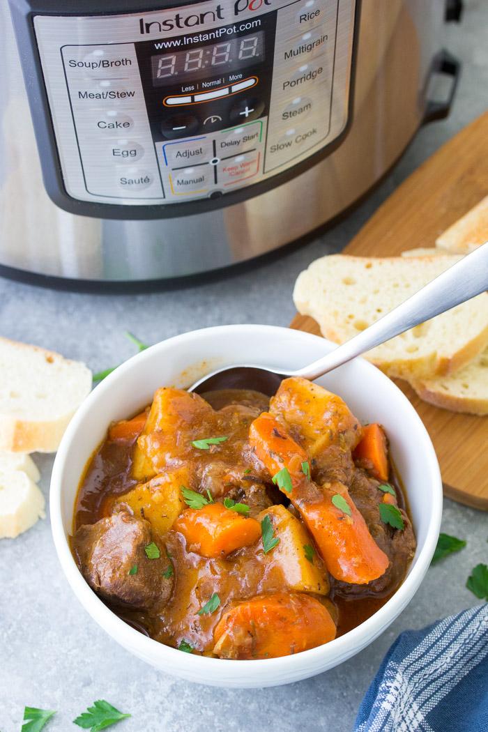 Instant Pot Beef Stew - Easy Pressure Cooker Recipe