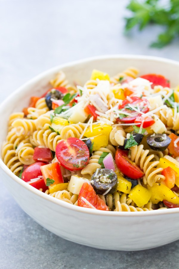 Italian Pasta Salad Easy Healthy Recipe