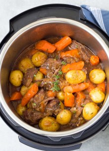 Pot roast in an instant pot is one of the best instant pot recipes.