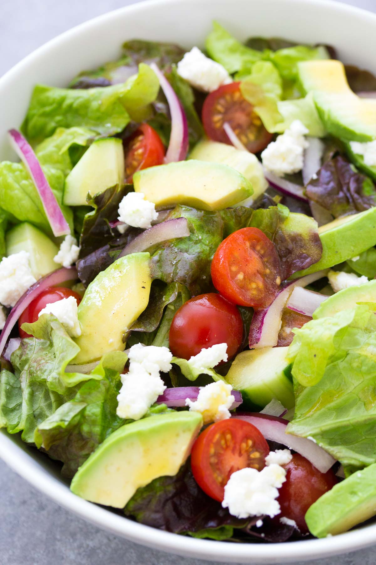Avocado Green Salad Recipe
