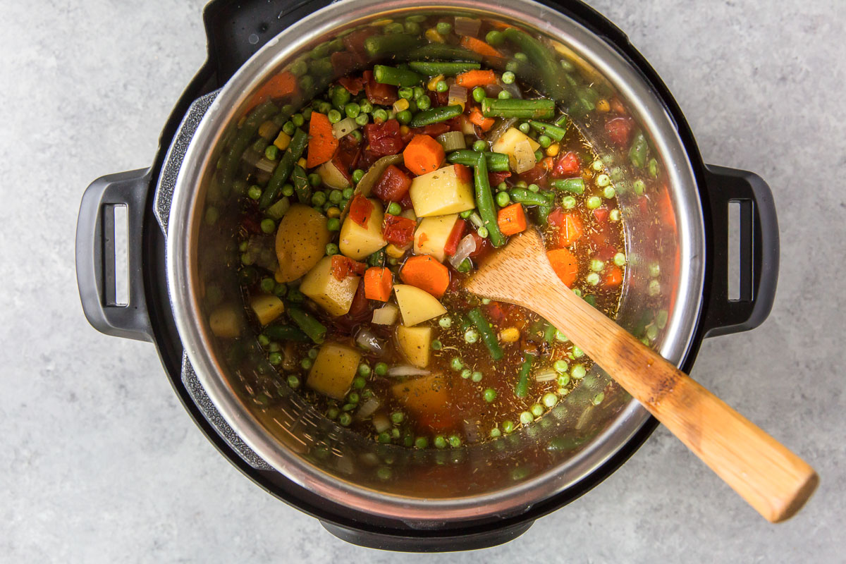 stir the ingredients together