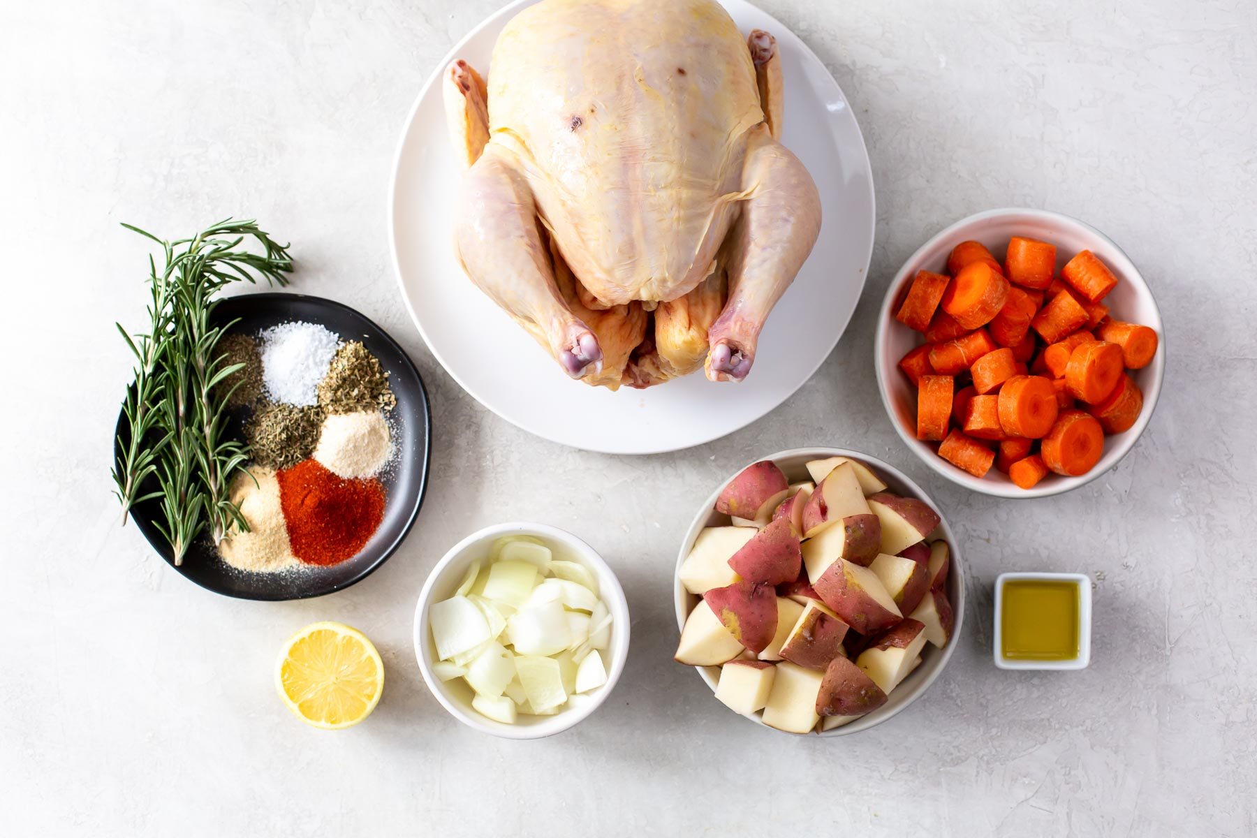 ingredients for slow cooker whole chicken recipe