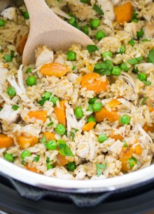 chicken and rice in an instant pot
