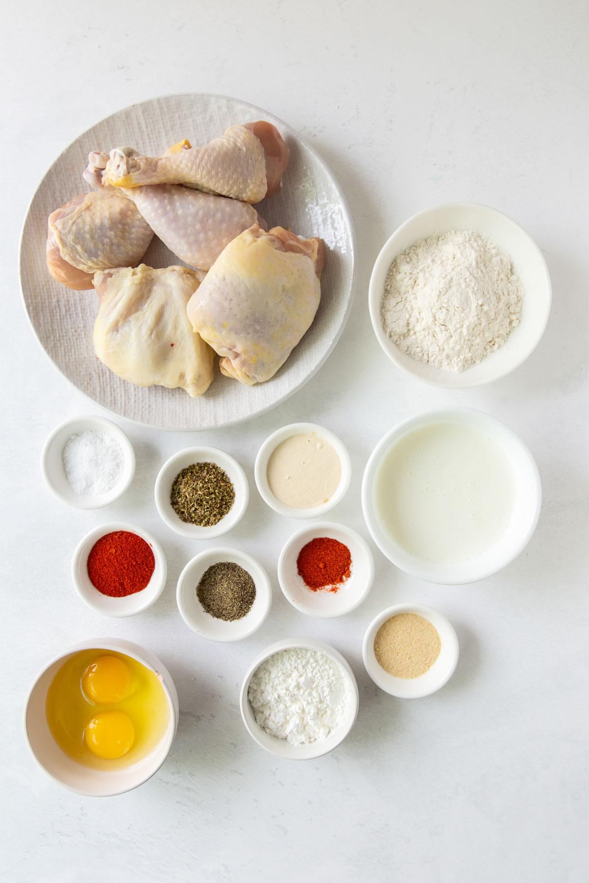 ingredients for air fryer fried chicken recipe