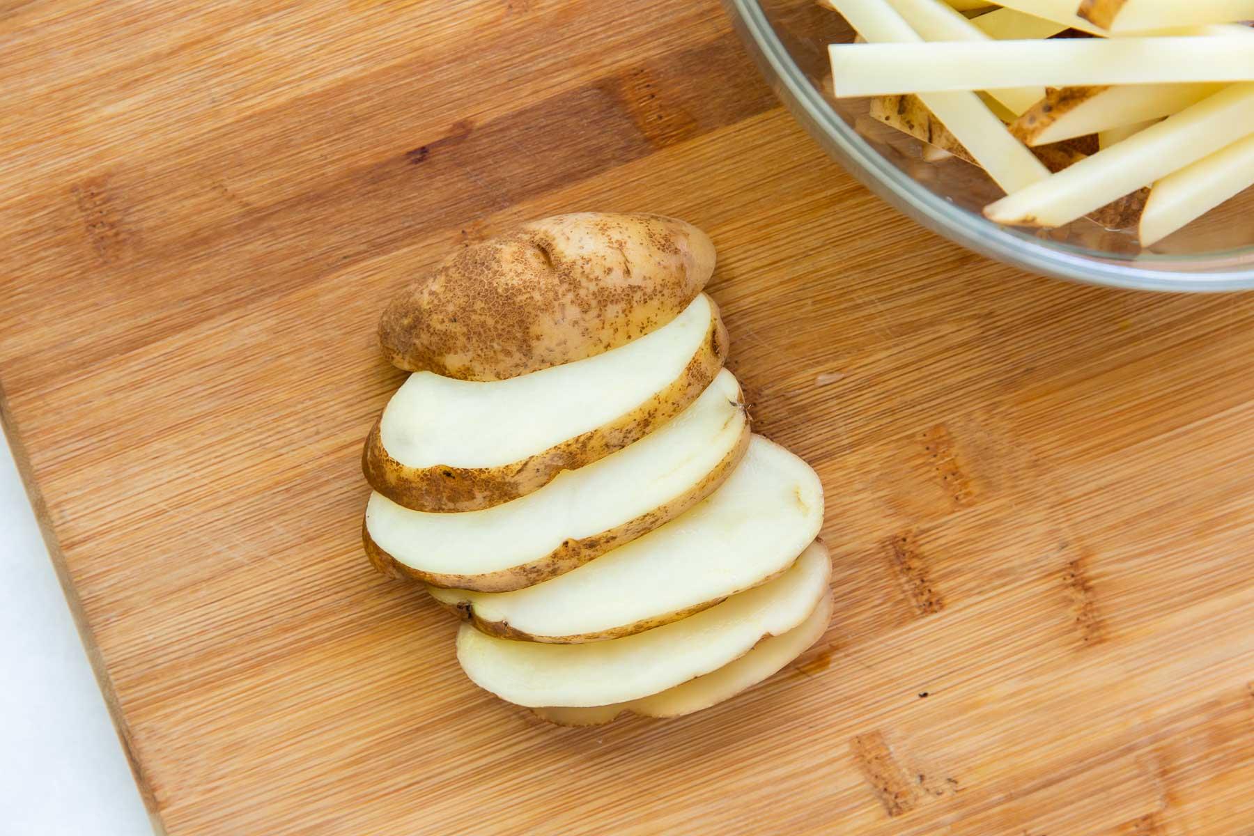 potato cut into 1/4-inch thick slices
