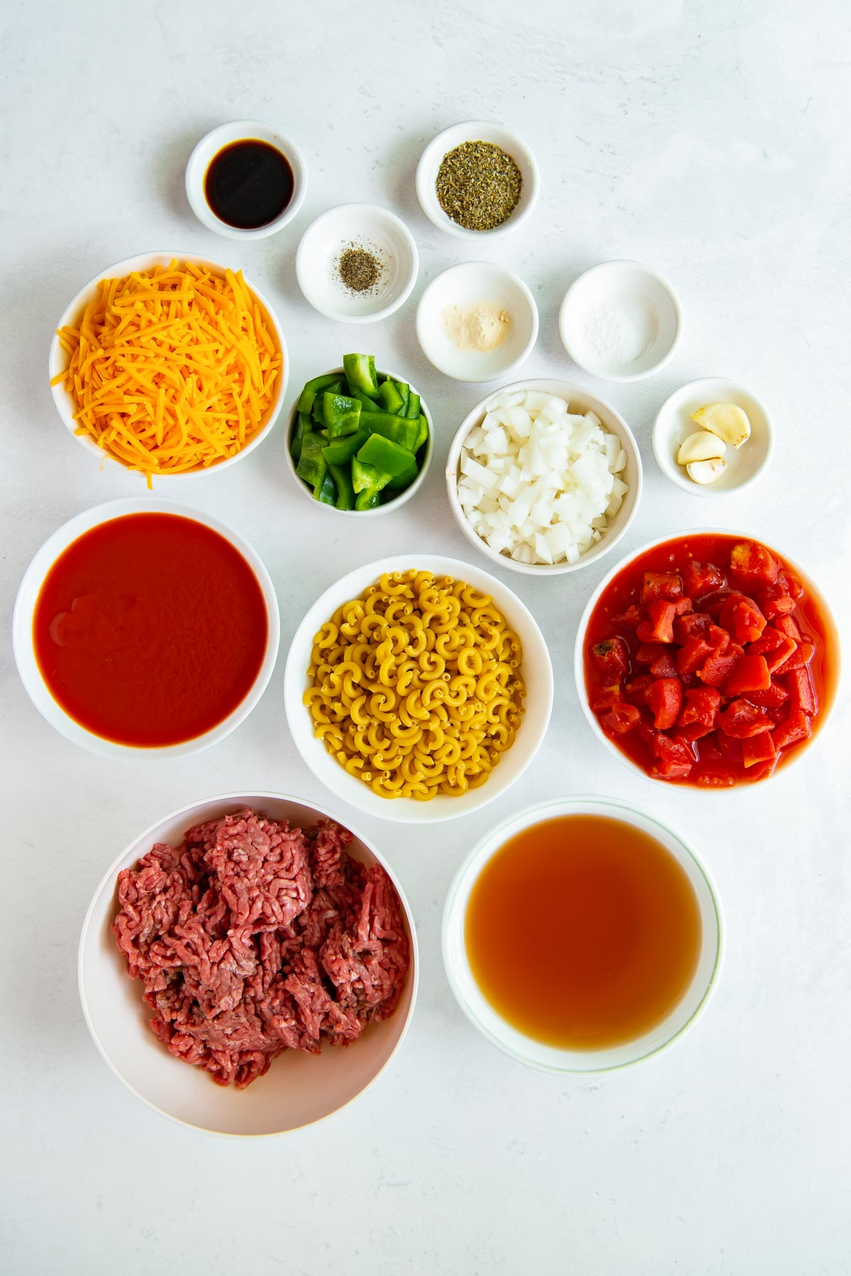ingredients for instant pot goulash recipe