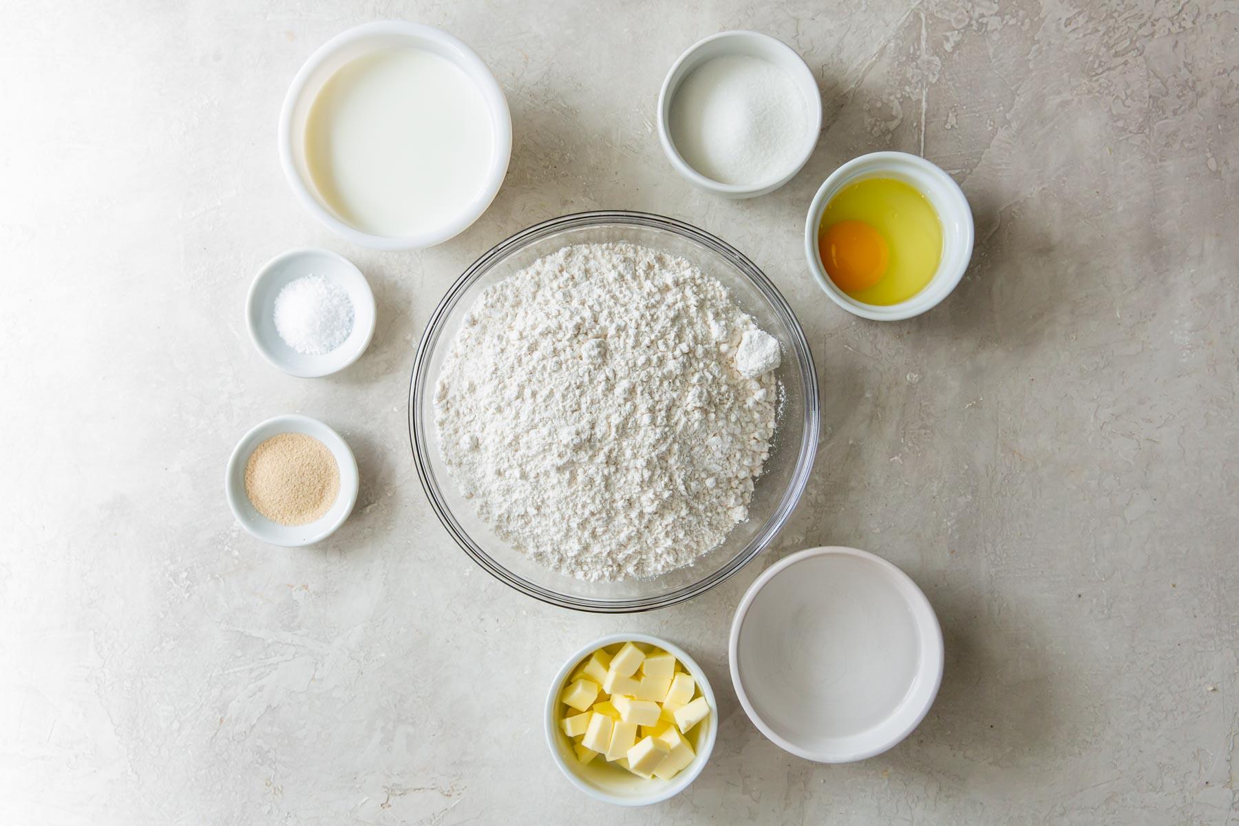 ingredients for dinner rolls recipe