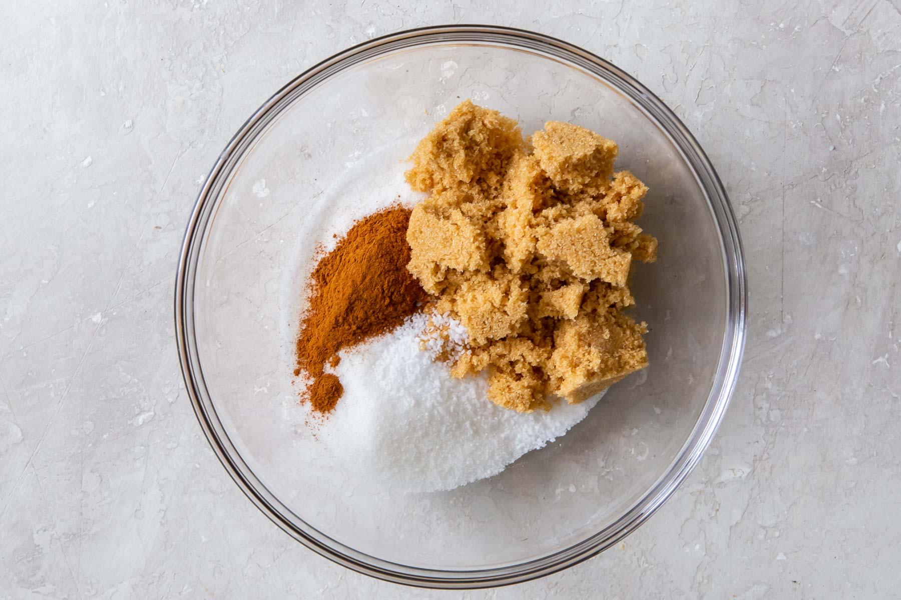 cinnamon sugar ingredients in a bowl