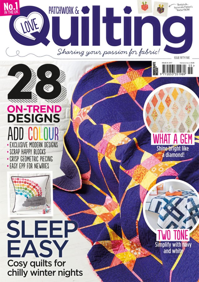 Love the diamond quilt on the cover