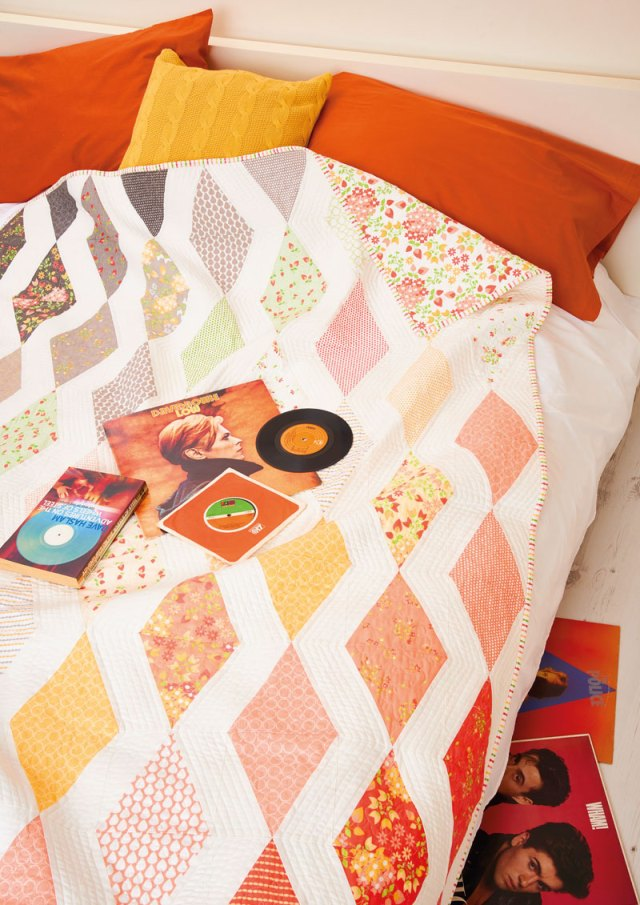 Diamond quilt by Kristin Esser. kristinesser.com