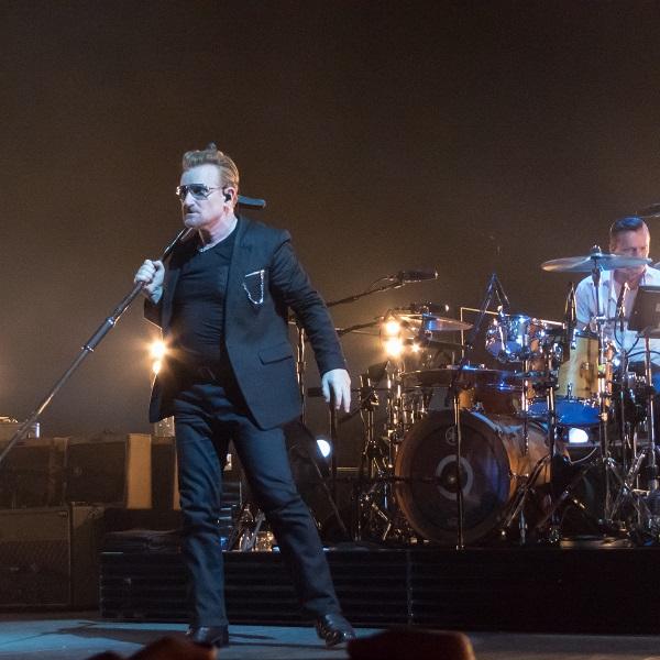 Bono and Larry at U2 concert Dublin 24 Nov 2015