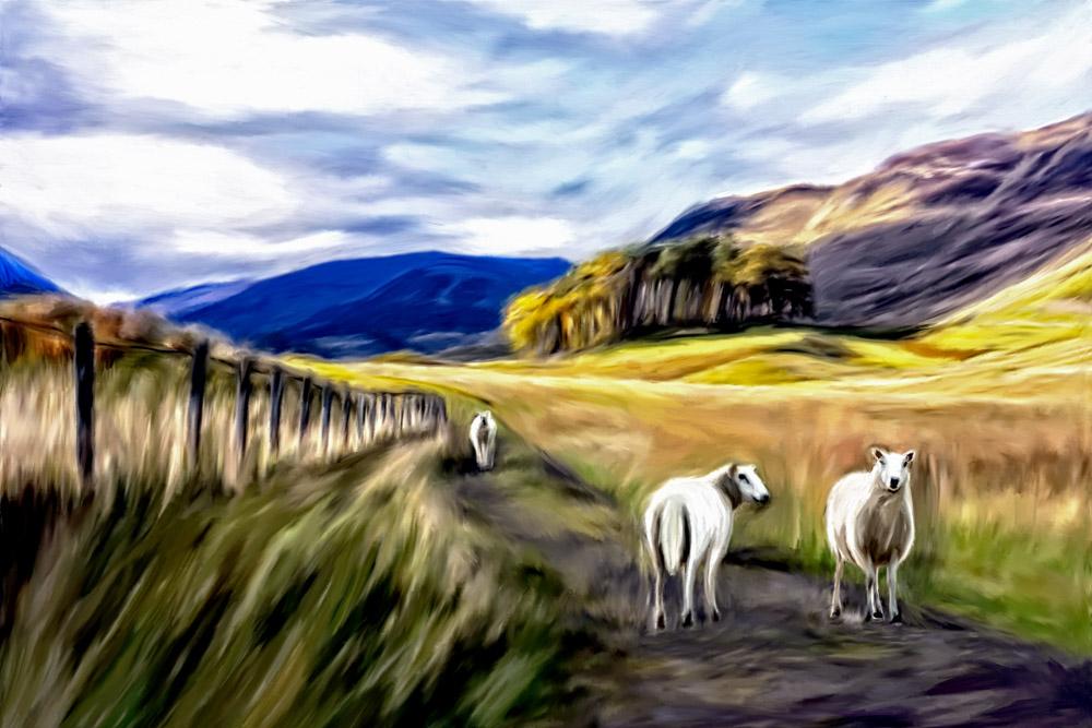 Scottish Highlands Artwork by Kristin Greenwood