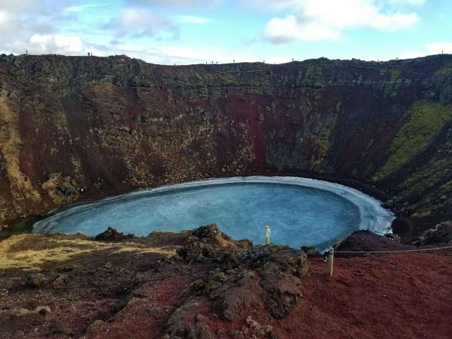 Kerið Crater rim hike