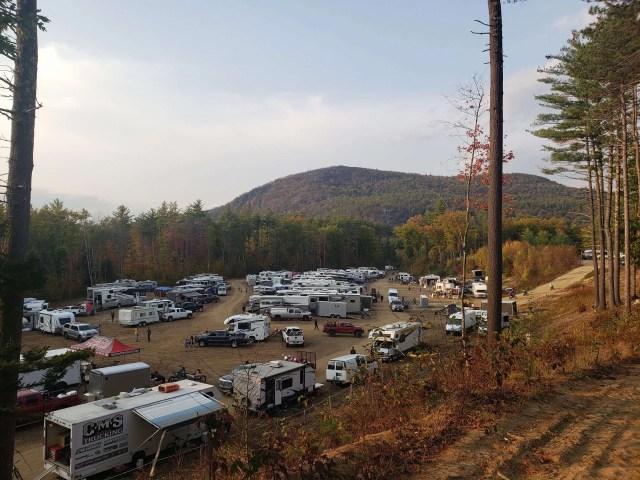 Motocross race camping