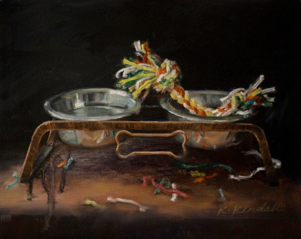 Oil Painting, Still Life, Dog Food, Kristin Kendall Fine Art