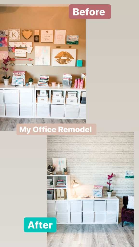 The BEFORE and AFTER to my Home Office Wallpaper Remodel - Kristin Korn