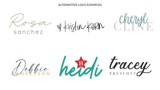 How To Use Your Personal Brand Logos - alternative logo examples