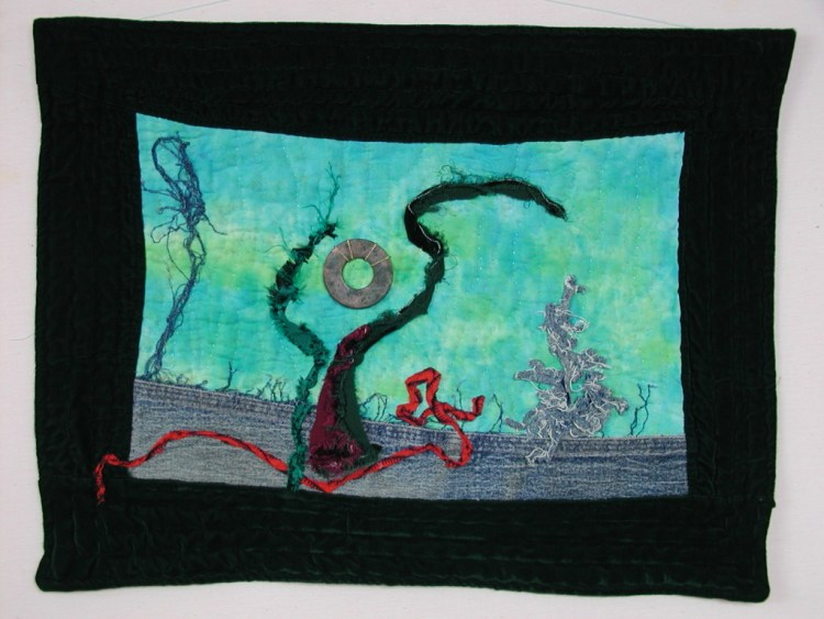 """Salvador Dali's First Quilt"" is a tribute by Kristin Miller"