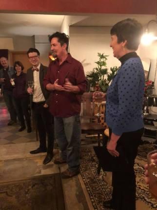 Brian Byrnes introducing Kristin Oakley