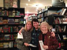 Kristin with her sister, Lisa Schroeter, and her mother, Elizabeth Oakley at the CWA Book of the Year Celebration at the Book Cellar
