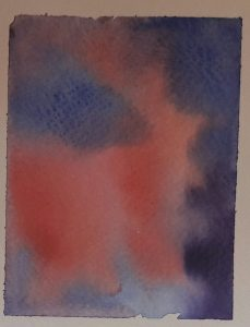 abstract wet in wet watercolour