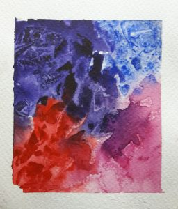 Clingfilm effects in watercolour
