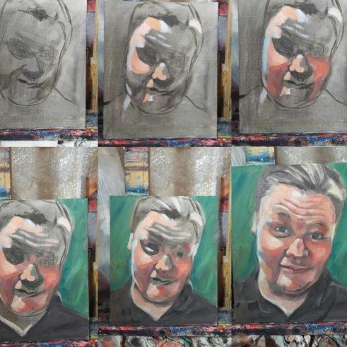 Painting 'alla prima' oil portraits