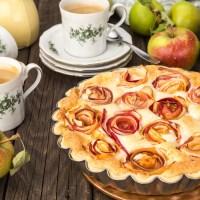 Äppelkaka med frangipane