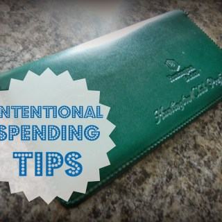 Intentional Spending Tips